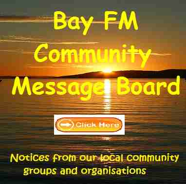 Bay FM's Community Message Board